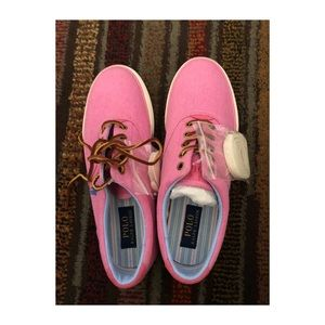Polo Ralph Lauren pink Canvas Sneakers Size 9